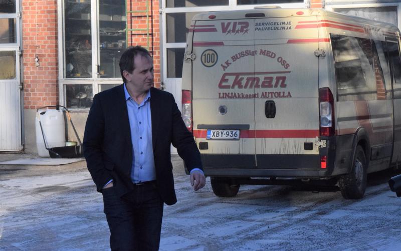 Kennet Svanbäck uskoo ison bussifirman pärjäävän muuttuvassa toimintaympäristössä.