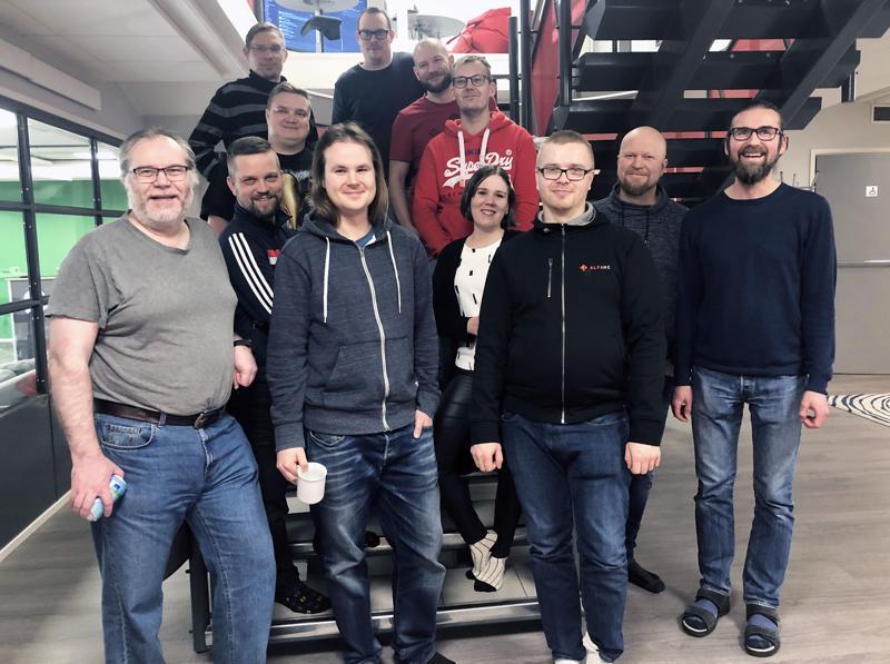 Alfamen Kokkolan toimipisteessä iloittiin voitosta.
