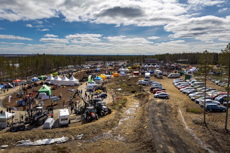 Metsäkonealan tapahtuma Proforest järjestettiin aiempina vuosina Haapavedellä.