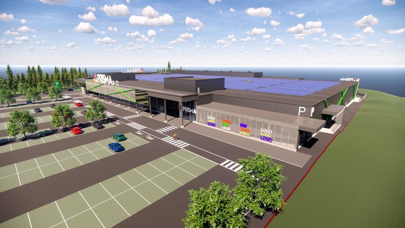 KPO julkaisi ensimmäistä kertaa havainnekuvan Vaasan uudesta Prismasta, joka rakennetaan moottoritien varrelle Liisanlehtoon.
