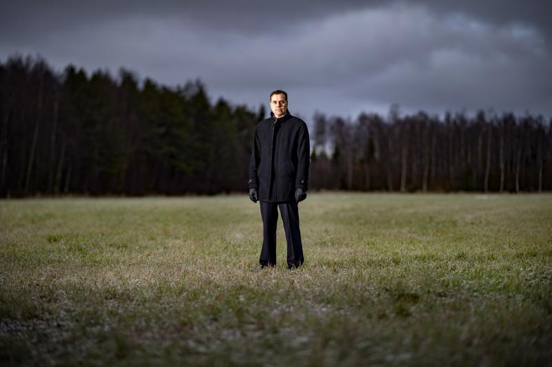 Jan-Ove Nyman ei niin talvisella keskipohjalaispellolla.