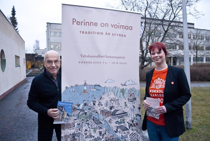 Sampo Purontaus ja Elina Perälä kertovat, että elokuussa järjestettäviä Valtakunnallisia kotiseutupäiviä on valmisteltu aktiivisesti noin vuoden verran.