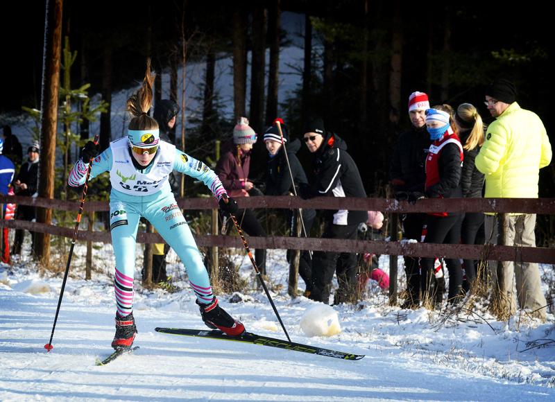 Reisjärvinen Laura Aho oli nopein 12-vuotiaiden tyttöjen sarjassa.