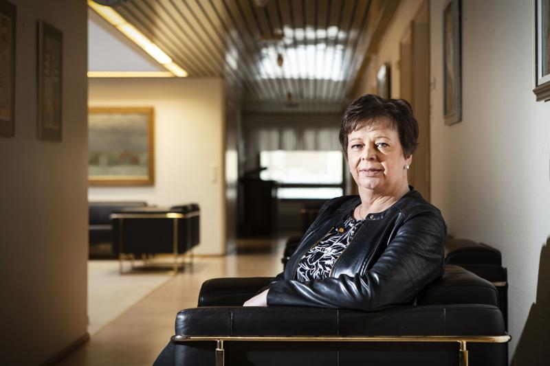 Terttu Korte on toiminut Kannuksen kaupunginjohtajana 14 vuotta.