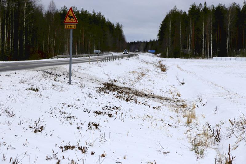 Onnettomuuspaikka oli aivan Kokkolan ja Kaustisen kuntarajalla.