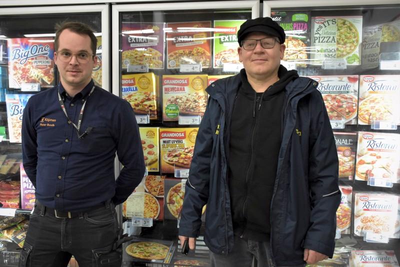 Petter Bonde ja Esa Fagerholm pohtivat, että puhelintilauksiin perustuva elintarvikkeiden kotiinkuljettaminen ei ole kummoinen bisnes.