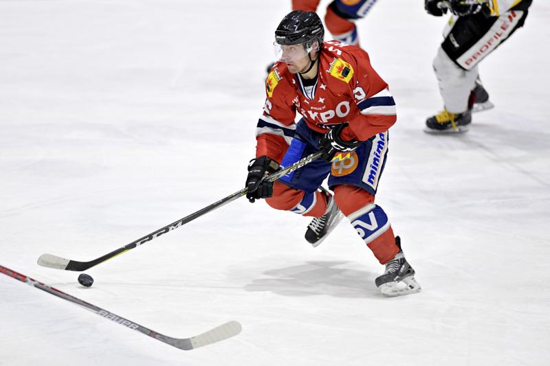Radek Koblizek pelasi kaudella 2017-18 23 ottelua Hermeksessä ennen kuin hän vakiinnutti paikkansa Kärppien liigajoukkueessa.
