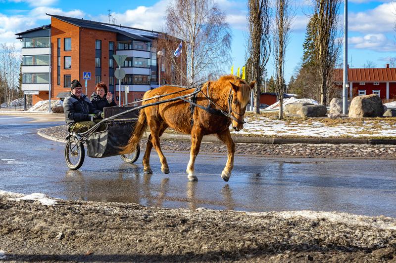 Timo Niemelä kävi Ellun kanssa hakemassa Hilkka Viitalan töistä hänen viimeisenä työpäivänä (19.03.2020) ja kierrätti pidemmän kaavan kautta kotiin.