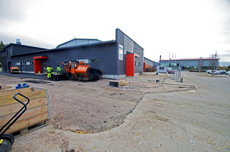 Jäähallin puku- ja huoltotilojen remontti oli yksi viime vuoden lukuisista Nivalaa kehittäneistä hankkeista.