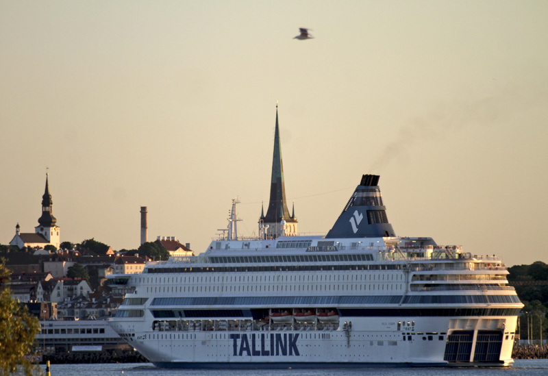 The ferry Silja Europa of the Estonian Tallink line in Tallinn, Estonia. Finnish government has asked shipping companies to stop passenger traffic from Estonia and Sweden to Finland as of from 11 April to 13 May. The restrictions do not include cargo traffic and staff needed to keep cargo moving.