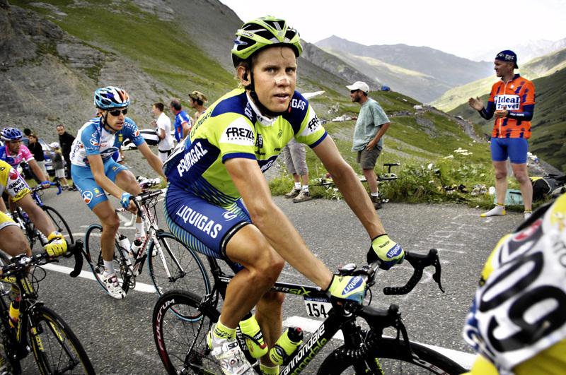 Silloin ennen. Kjell Carlström Tourilla 2007 kipuamassa Col du Galibieriä.