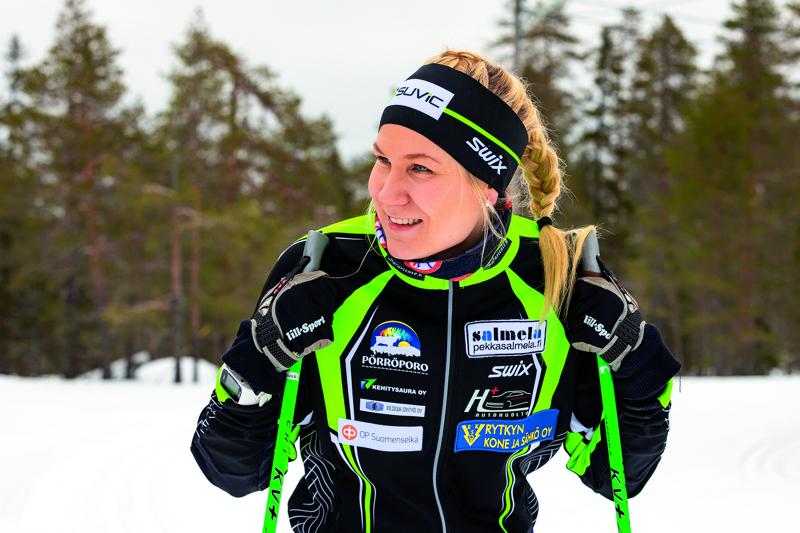 Erikoisesta talvesta huolimatta Roosa Juuska on tyytyväinen omaan hiihtokauteensa.