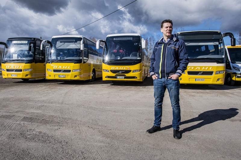 Ajomäärät ovat vähäisiä, joten tuolloin polttoainettakaan ei kulu tavalliseen tapaan, sanoo Dahl-Linjaliikenteen toimitusjohtaja Jonas Dahl.