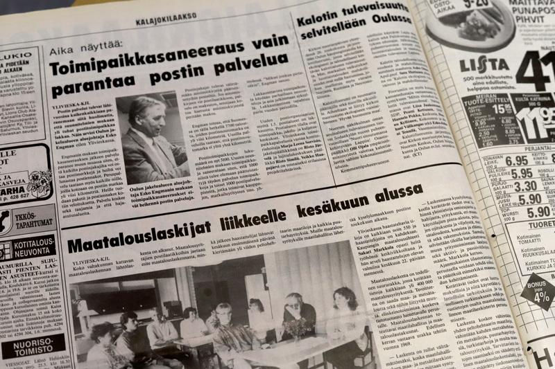 Kalajokilaaksossa 30 vuotta sitten uutisoitiin ajankohtaisista asioista.
