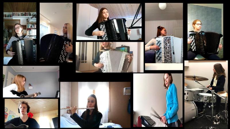 Jokilaaksojen musiikkiopiston nettikonserteissa on mukana noin 50 esitystä, jotka oppilaat ovat taltioinneet kodeissaa. Mukana on myös yhteissoittoa.
