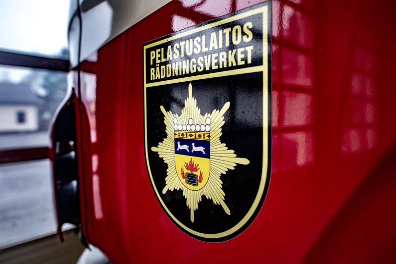 Rakennuspalo Pietarsaaressa sunnuntaina aamuyöllä.