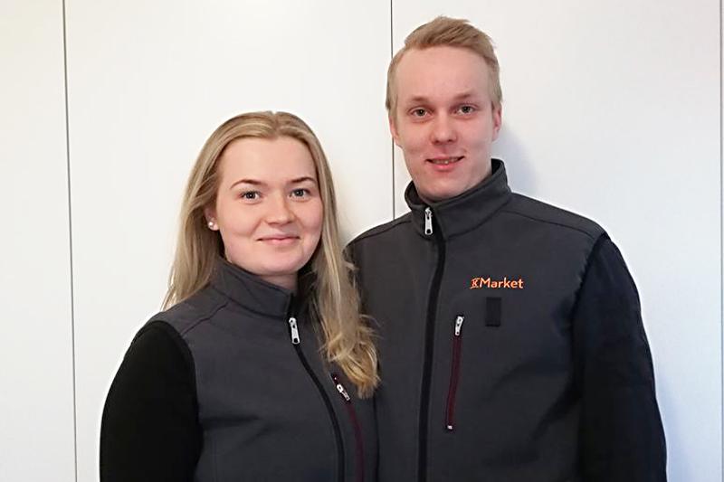 Anni-Elina Säävälä ja Toni Ollila ovat työskennelleet aiemmin Kiimingin K-Supermarketissa.
