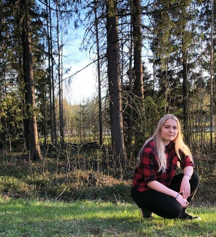 Amanda Ukonaho kertoo luonto-ohjaajakoulutuksen olleen hyvin käytännönläheistä. Parasta antia olivat pitkät vaellukset Lapissa.