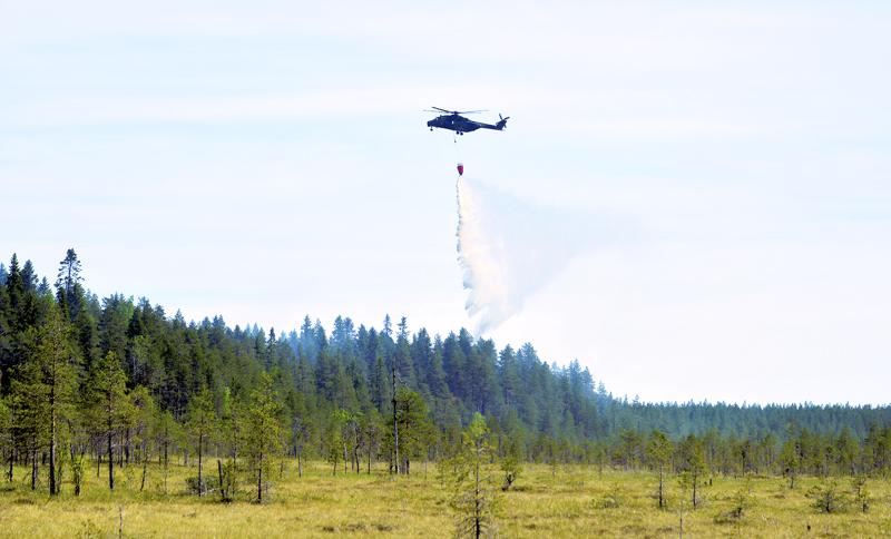 Keski-Pohjanmaan ja Pohjois-Pohjanmaan alueilla on voimassa metsäpalovaroitus.