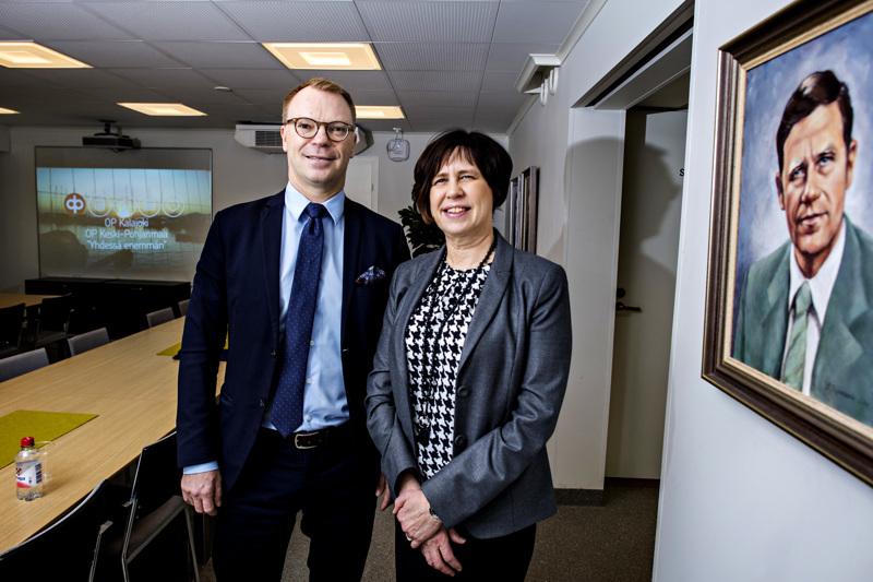 OP Keski-Pohjanmaan toimitusjohtaja Jyrki Rantala jatkaa tehtävässään ja OP Kalajoen toimitusjohtaja Leena Pajumaa nimitetään johtajaksi ja johtoryhmän jäseneksi yhdistyneeseen pankkiin.