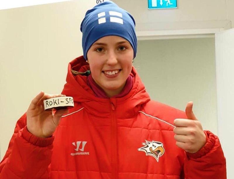 Jenna Hietala iski ensimmäiset liigamaalinsa juuri Rovaniemellä pelatessaan vastustajan Vaasan Sportin riveissä.