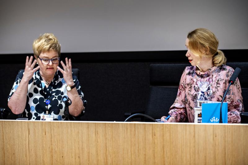 Soiten toimitusjohtaja Minna Korkiakoski-Västi ja valtuuston puheenjohtaja Sari Innanen ovat taas tänään työn touhussa Soiten heti aamulla kahdeksalta alkavassa valtuuston kokouksessa.