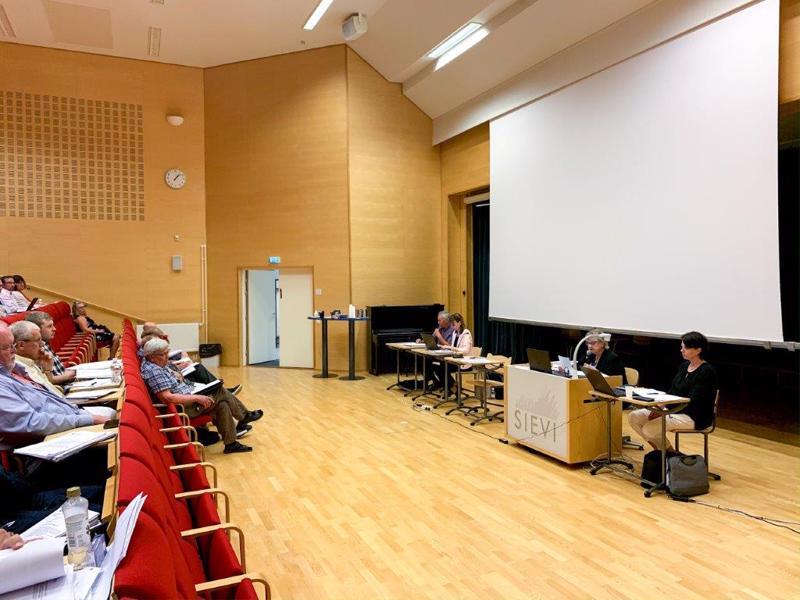 Korpelan Voiman yhtymäkokous alkoi perjantaina iltapäivällä kello 13.00 Sievin Vääräjokisalissa.