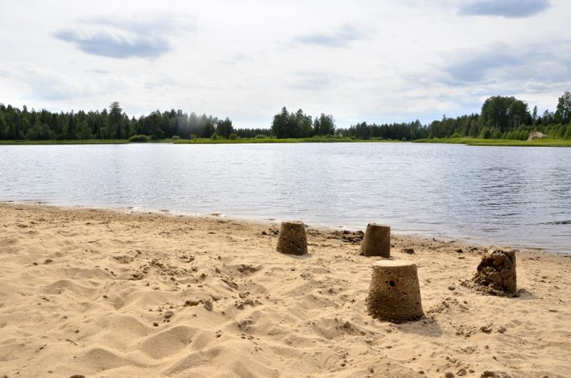 Alavieskanjärven uimapaikka on lapsiperheiden suosiossa.