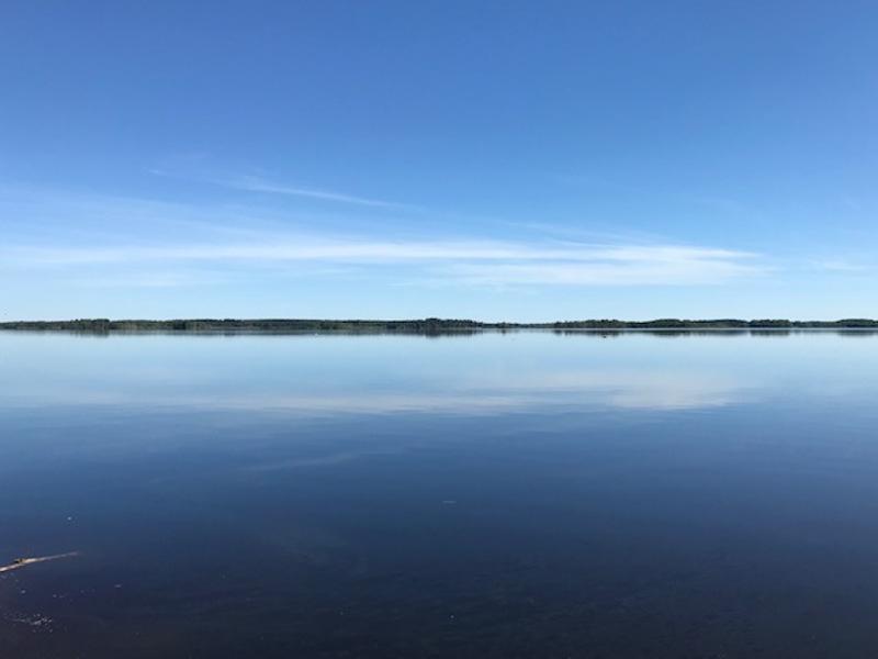 Ullanvanjärvi Hätäniemestä päin.