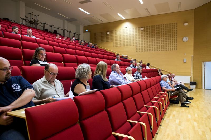 Edustajia. Korpelan Voiman yhtymäkokous pidettiin viime perjantaina Sievin Vääräjokisalissa.