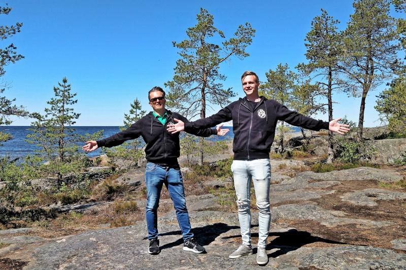 - Yhtään puuta tai puskaa ei kaadeta eikä Botnia Villan jäljiltä jää luontoon roskaa ja likaista vettä,  lupaavat yrittäjät Mika Vacker ja Misha Åkerholm.
