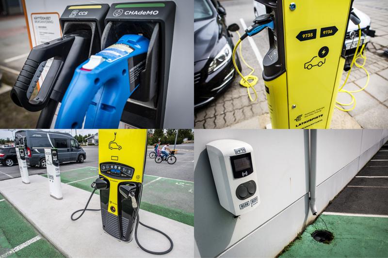 Hallituksen tavoitteena on lisätä sähköautojen latauspisteiden määrää kymmenillä tuhansilla 2030 mennessä. Kokkolassa niitä on tällä hetkellä reilu kourallinen.