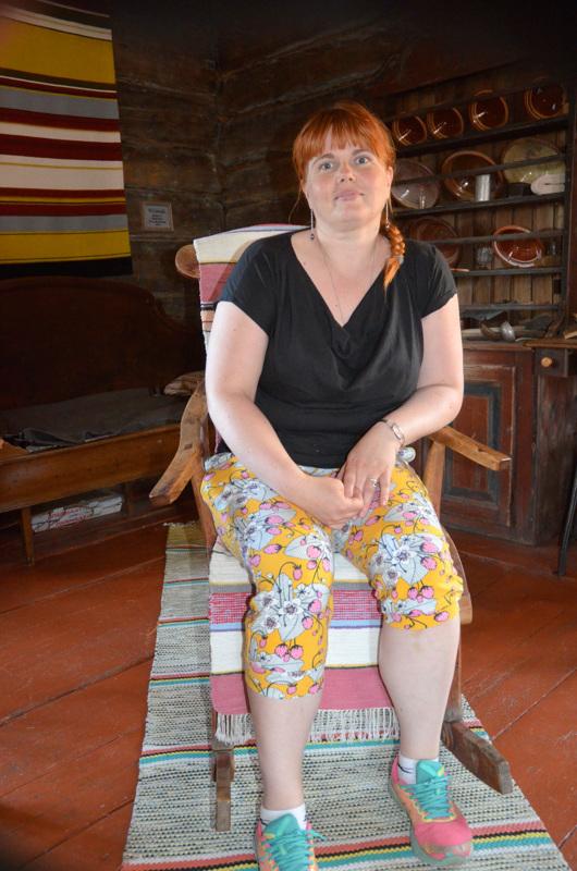 Kesä kotiseutumuseolla. Noora Nyberg työskentelee kesän Lestijärven kotiseutumuseolla.