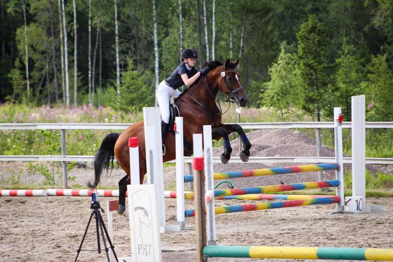 Pegasos Riding Teamin Viivi Puolimatka ja Elys viime vuoden estekisoissa.