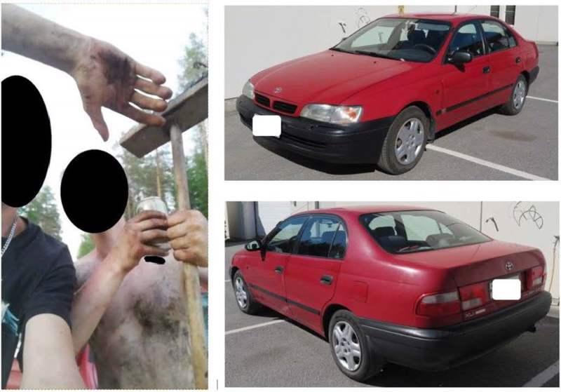 Poliisin medialle julkaisemat kuvat, joiden avulla toivotaan vihjeitä tapaukseen liittyen.