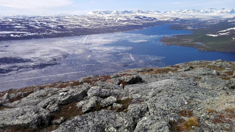 Suomen komein maisema. Kilpisjärvi ja mahtava Saana.