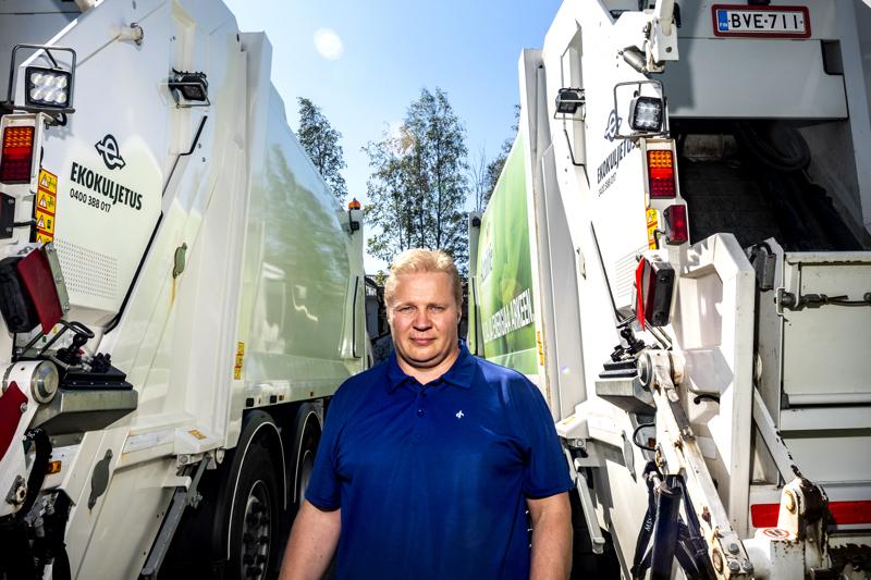 Kokkolalaisen Ekokuljetus JNH Oy:n toimitusjohtaja Petri Niemelä.