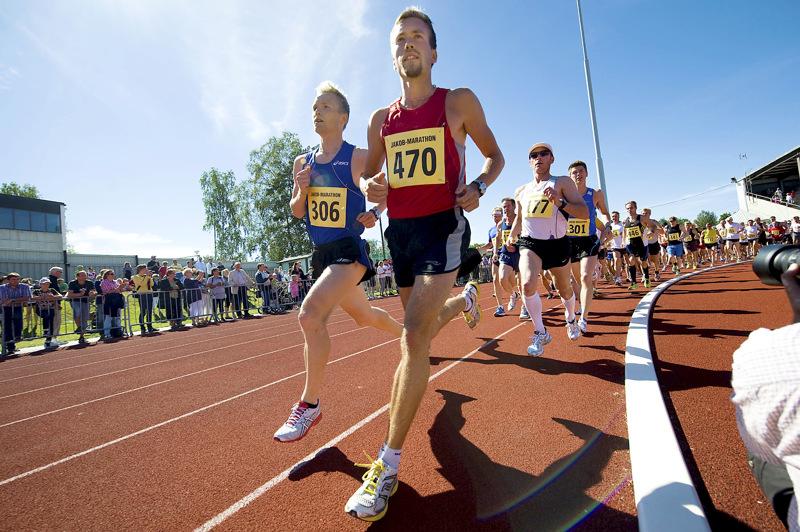 Jaakon maratonin lähtö vuonna 2010.