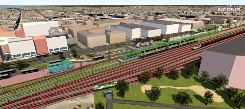 Rautatieasema saa jatkossa alikulun ja busseille parkkipaikat tunnelien läheisyyteen.
