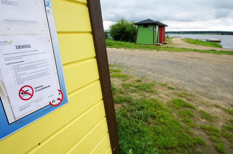 Pidisjärven rantaan Kyläojan uimarannalle tuotiin aiemmin heinäkuussa tiedote sinilevähavainnoista, mutta enää ne eivät uimarantaa kiusaa.