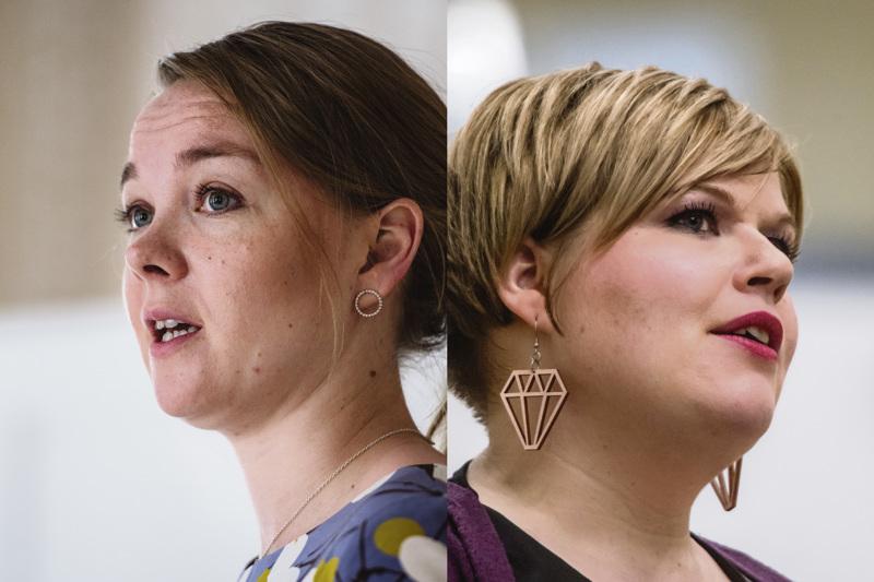 Katri Kulmuni ja Annika Saarikko ovat tähän mennessä ainoat, jotka ovat asettuneet ehdolle Keskustan puheenjohtajakisaan.