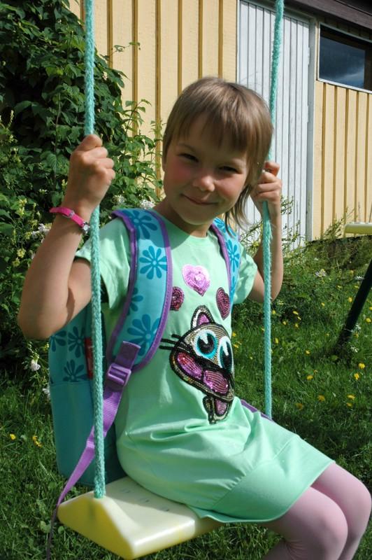 Adele Laitinen oli valmiina aloittamaan koulutiensä. Välitunneilla hän suunnitteli harrastavansa muun muassa kiipeilyä.