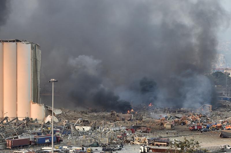 Beirutin sataman läheisyydessä tapahtunut räjähdys aiheutti laajoja tuhoja.