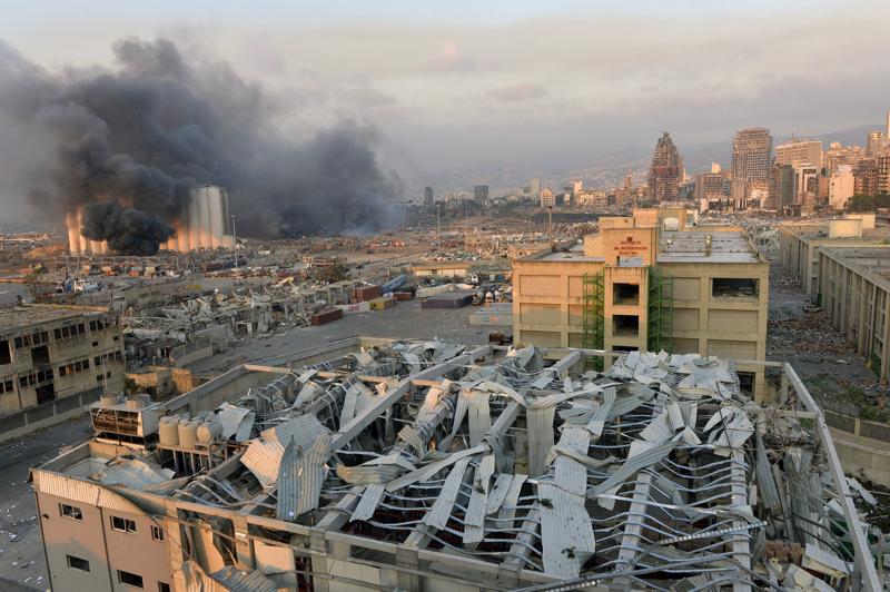 Beirutin näkymät olivat räjähdyksen jälkeen todella karut.