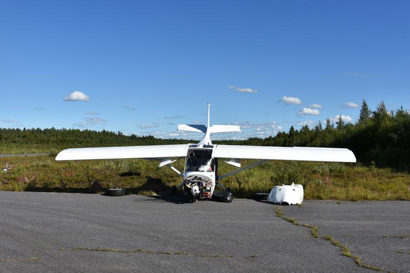 Kokkolan ilmailukerhon omistama pienlentokone vaurioitui onnettomuudessa Kannuksen lentokentällä.