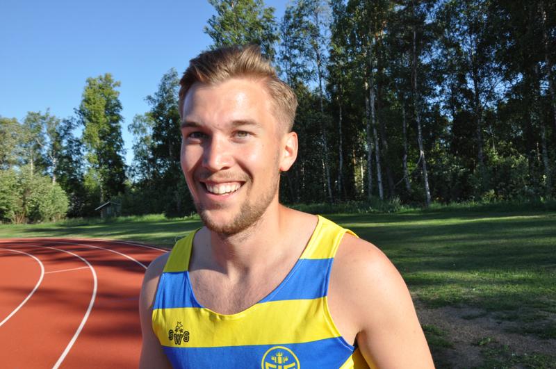 Filiph Johansson on kokkolalaisseurojen vahvin mitaliehdokas Turun Kalevan kisoissa.