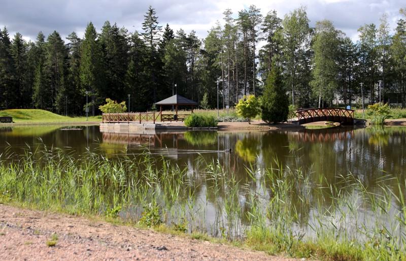 Karppilammella on nähty tänä kesänä tavallista enemmän uimareita.