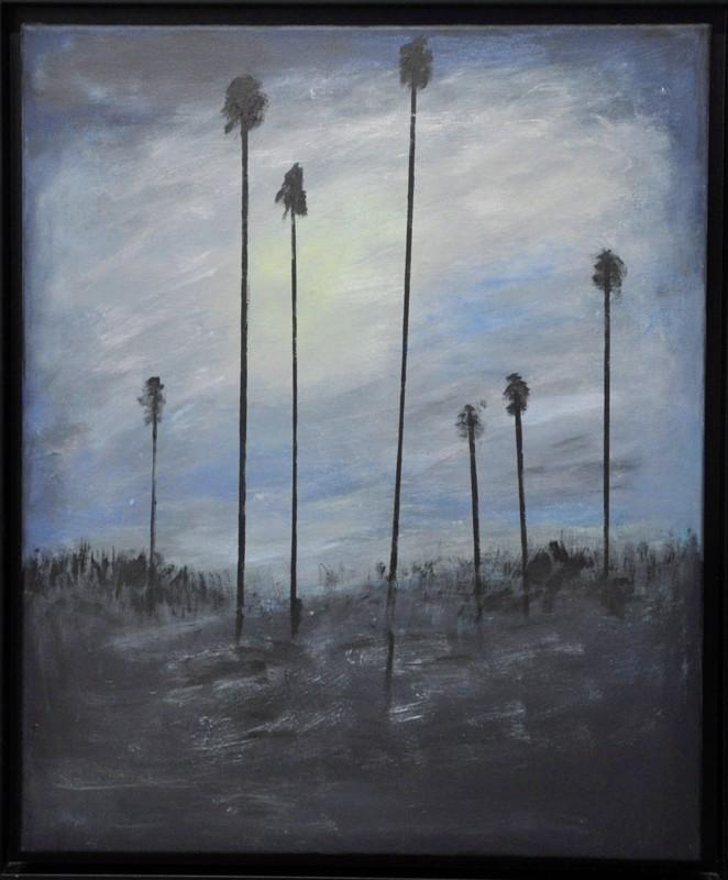 Ennen yötä. Rantakasvien hahmo oli mallina Anita Kallion maalaukselle.