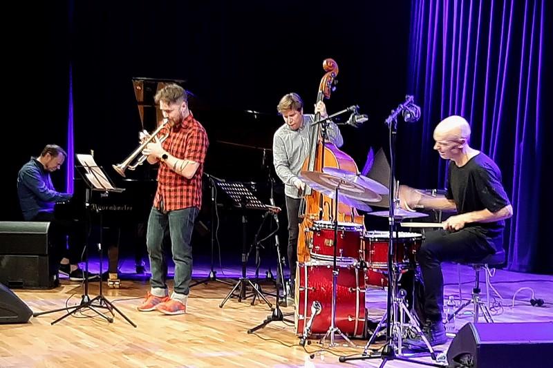 Ilmiliekki Quartet esiintyi Virta-salissa viime viikolla.