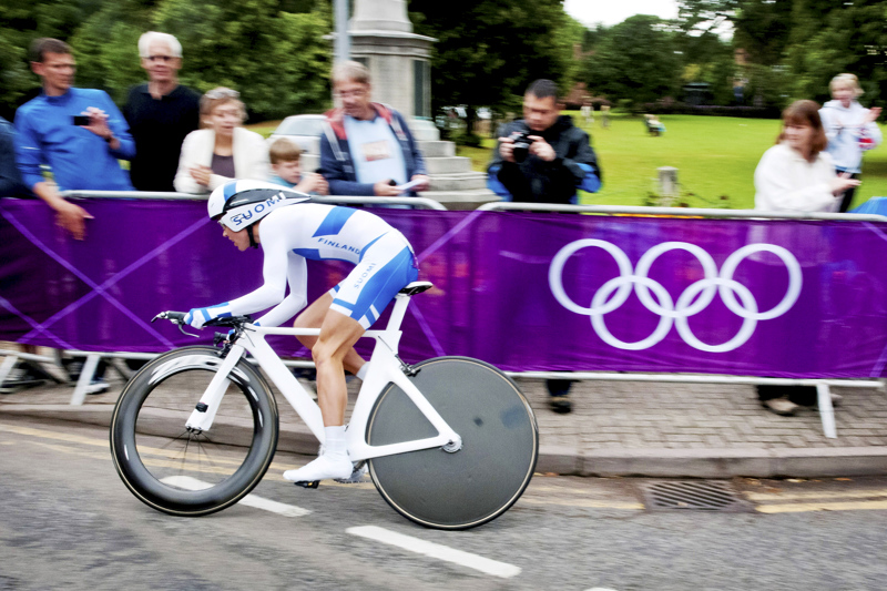 Lontoon olympialaisissa Pia Sundstedt kilpaili maantie- ja aika-ajossa. Lisäksi hän ehti kilpailujen aikana myös naimisiin miehensä Olaf Schumacherin kanssa.